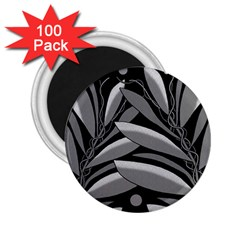 Gray plant design 2.25  Magnets (100 pack)