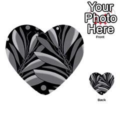 Gray plant design Multi-purpose Cards (Heart)