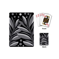 Gray plant design Playing Cards (Mini)