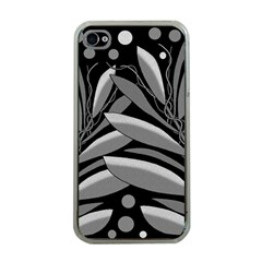 Gray plant design Apple iPhone 4 Case (Clear)