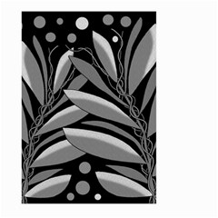 Gray plant design Large Garden Flag (Two Sides)