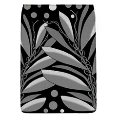 Gray plant design Flap Covers (S)
