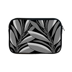 Gray plant design Apple iPad Mini Zipper Cases