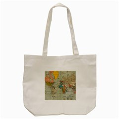 Vintage World Map Tote Bag (Cream)