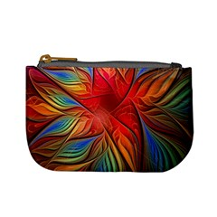 Vintage Colors Flower Petals Spiral Abstract Mini Coin Purses
