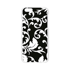 Vector Classicaltr Aditional Black And White Floral Patterns Apple Seamless iPhone 6/6S Case (Transparent)