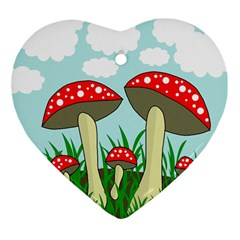 Mushrooms  Ornament (Heart)