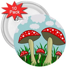Mushrooms  3  Buttons (10 pack)