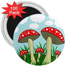 Mushrooms  3  Magnets (100 pack)