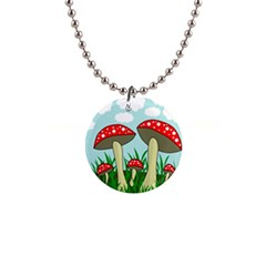 Mushrooms  Button Necklaces