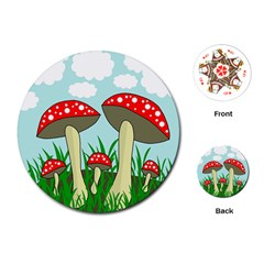 Mushrooms  Playing Cards (Round)