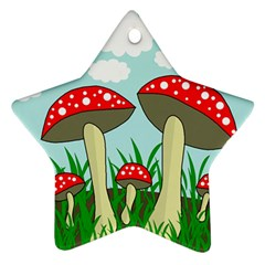 Mushrooms  Star Ornament (Two Sides)