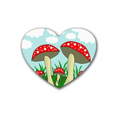 Mushrooms  Heart Coaster (4 pack)