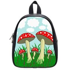 Mushrooms  School Bags (Small)
