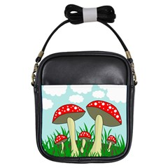 Mushrooms  Girls Sling Bags