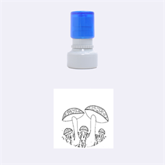 Mushrooms  Rubber Round Stamps (Small)