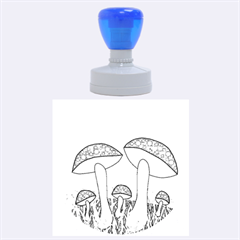 Mushrooms  Rubber Round Stamps (Large)