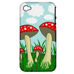 Mushrooms  Apple iPhone 4/4S Hardshell Case (PC+Silicone)