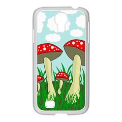 Mushrooms  Samsung GALAXY S4 I9500/ I9505 Case (White)