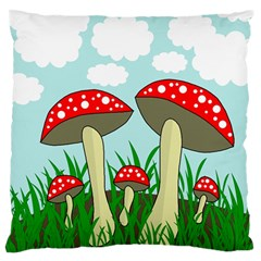 Mushrooms  Standard Flano Cushion Case (One Side)