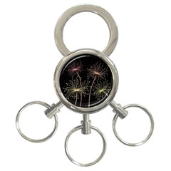 Elegant dandelions  3-Ring Key Chains
