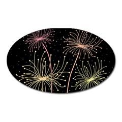 Elegant dandelions  Oval Magnet