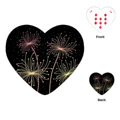 Elegant dandelions  Playing Cards (Heart)