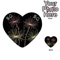 Elegant dandelions  Playing Cards 54 (Heart)