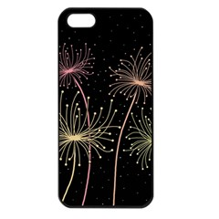 Elegant dandelions  Apple iPhone 5 Seamless Case (Black)
