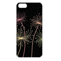 Elegant dandelions  Apple iPhone 5 Seamless Case (White)