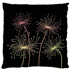Elegant dandelions  Large Flano Cushion Case (Two Sides)