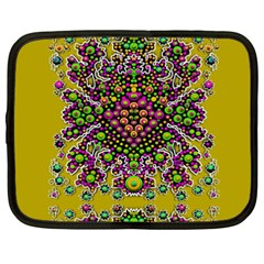 Fantasy Flower Peacock With Some Soul In Popart Netbook Case (xxl)