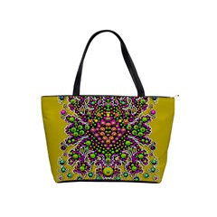 Fantasy Flower Peacock With Some Soul In Popart Shoulder Handbags