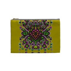 Fantasy Flower Peacock With Some Soul In Popart Cosmetic Bag (medium)