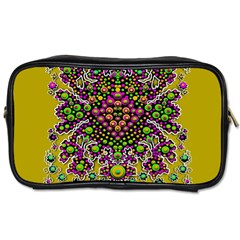 Fantasy Flower Peacock With Some Soul In Popart Toiletries Bags