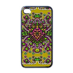 Fantasy Flower Peacock With Some Soul In Popart Apple Iphone 4 Case (black)