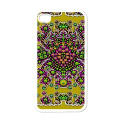 Fantasy Flower Peacock With Some Soul In Popart Apple Iphone 4 Case (white)