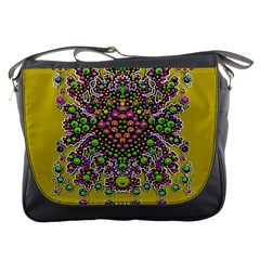 Fantasy Flower Peacock With Some Soul In Popart Messenger Bags