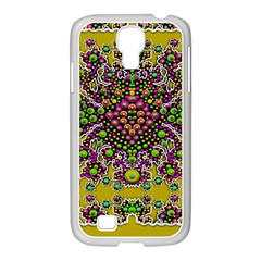 Fantasy Flower Peacock With Some Soul In Popart Samsung Galaxy S4 I9500/ I9505 Case (white)