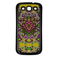 Fantasy Flower Peacock With Some Soul In Popart Samsung Galaxy S3 Back Case (black)