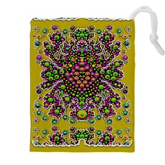 Fantasy Flower Peacock With Some Soul In Popart Drawstring Pouches (xxl)