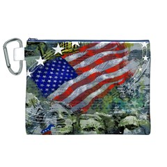 Usa United States Of America Images Independence Day Canvas Cosmetic Bag (XL)