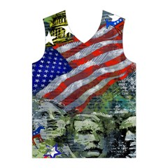 Usa United States Of America Images Independence Day Men s Basketball Tank Top