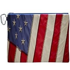 Usa Flag Canvas Cosmetic Bag (XXXL)