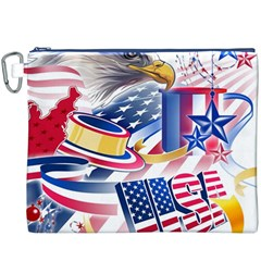 United States Of America Usa  Images Independence Day Canvas Cosmetic Bag (XXXL)