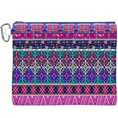 Tribal Seamless Aztec Pattern Canvas Cosmetic Bag (XXXL)