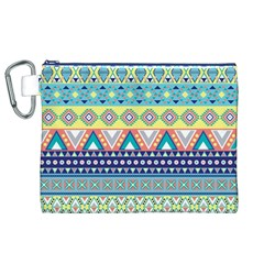 Tribal Print Canvas Cosmetic Bag (XL)