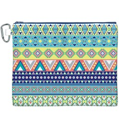 Tribal Print Canvas Cosmetic Bag (XXXL)