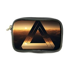 Triangle Penrose Clouds Sunset Coin Purse