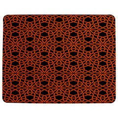 Triangle Knot Orange And Black Fabric Jigsaw Puzzle Photo Stand (Rectangular)